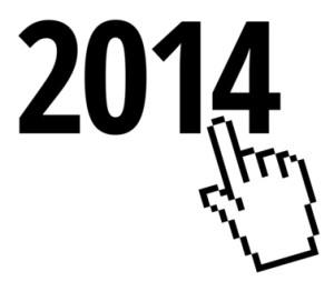 2014 und Klickzeichen