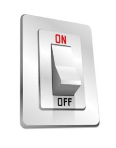 Schalter on und Off