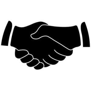 illustrierte Hände schwarz