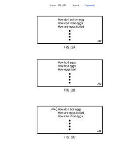 Patent Screenshot Posting questions from search queries US 8768920 B1 Figure 1