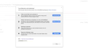 Screenshot: Nutzerfreundlichkeit auf Mobilgeräten Webmaster Tools