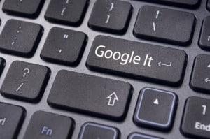 Google Button auf einem Keyboard