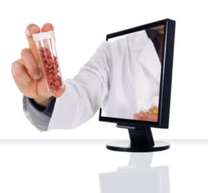 a computer flat screen for internet pharmacy