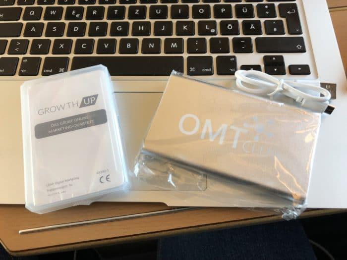 Onlinemarketing Karten Quartett und USB Charger